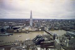 (Just A Stray Cat) Tags: london england uk shard sky gardens thames bridge 35mm 35 mm film analog analogue