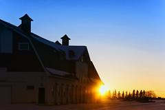 A Barnyard Sunset... (Mister Day) Tags: outside barn sunset architecture dusk alberta