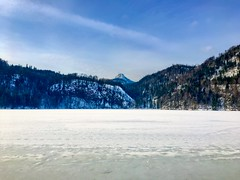 Frozen lake Hechtsee with Pendling mountain in Tyrol, Austria (UweBKK (α 77 on )) Tags: winter snow ice cold white lake frozen hechtsee pendling mountain tree forest blue sky tirol tyrol austria europe europa iphone österreich