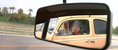 Reflections of Brayden and Chaia (SpeDesert) Tags: spebak spe canon canondslr canon70d bug vw beetle reflection road driving classic classiccar rearviewmirror mirror aircooled hotrod