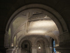 New York Public Library Entrance Hall Lobby 3640 (Brechtbug) Tags: new york public library entrance hall lobby 5th ave facade city interior stairs staircase stone marble 2019 nyc 03122019 art architecture designed by artist sculptor paul wayland bartlett carved the piccirilli brothers was two lions main branch stephen a schwarzman building consolidation astor lenox libraries beaux arts design style