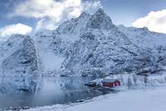 Norwegian winter mood (yan08865) Tags: snow mountains sky landscape winter lofoten norway travel lake water river creek sea ocean waterfront photographers pavlis wide canon mountain islands arctic nature earth seascape white