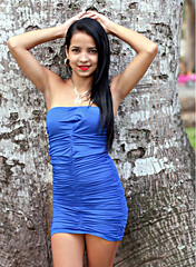 Yennie in a Blue Dress (Alex88 - Thanks for 120 Million Views) Tags: blue dress brunnette cuba cubana lovely beauty smiles