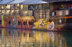 304 - Paris - Février 2019 - le long du Bassin de La Villette (paspog) Tags: paris france février 2019 bassindelavillette streetart canalart graffitis mural murals fresque fresques tags