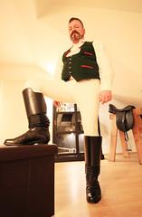 Trachtenreiter (suitfunmuc) Tags: boots stiefel dachauer tracht equestrian reiter leder leather riding