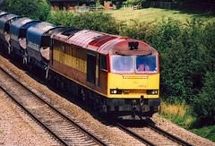 60002 (Peter Leigh50) Tags: class 60 tug train track hopper stone railway railroad rail rural diesel engine locomotive mirrlees