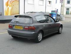 1994 Honda Civic 1.5 Automatic (occama) Tags: m423ggp 1994 honda civic old car cornwall uk grey silver japanese bangernomics