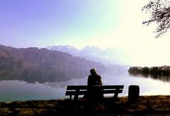 Bench (Travel-er) Tags: attersee art austria leak memory life nature mountain village man