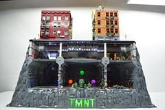 Teenage Mutant Ninja Turtle Sewer Lair-Subway-NYC (ben_pitchford) Tags: lego legomoc sewerlair teenagemutantninjaturtles tmnt legobuild legodisplay hobbylobby bricknetwork afol diorama architecturephotography toyphotography flickrart