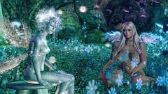 Holy Spirits (Angel Neske) Tags: angel fairy magic fantasy mythology landscape butterfly sl wings holy