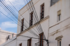 Power (suzanne~) Tags: spain andalusia vejerdelafrontera electricity power wires puebloblanco lensbaby edge50