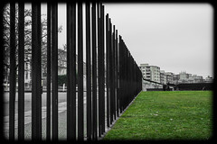 The Wall (nickyt739) Tags: berlin wall east west germany no mans land graffiti colour black white bw noir history ww2 deutschland sombre sad reflective dramatic selective nikon dslr fx d750 flickrsbest europe capital city moody
