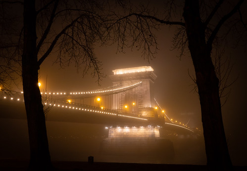 Chain Bridge in fog
