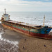 Zhen-Feng Cargo Ship Went Aground on Seaside in Taoyuan