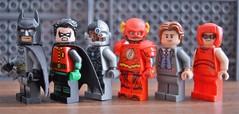 DC FIGBARF 1 (Matthew Candey) Tags: lego dc superheroes batman robin cyborg flash bruce wayne barry allen tdk cw injustice2