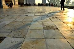 Marble Morning (Pedestrian Photographer) Tags: morning sunrise silhouettes marble tile plaza 41 tiles taj mahal am
