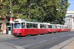 2016-08-16, Wien, Dr. Karl Renner Ring (Fototak) Tags: tram strassenbahn bim wien austria wvb e2 c5 ligne2 ligne71 4071 1454 4321