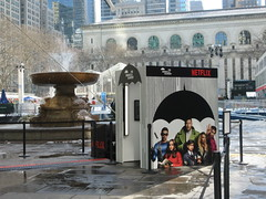 2019 Big Umbrella Academy in Bryant Park NYC 1320 (Brechtbug) Tags: big umbrella bryant park nyc 2019 february 02132019 new york city 6th avenue near 42nd st behind public library midtown manhattan the academy netflix tv series comic book based starting friday 15th bumbershoot umbrellas
