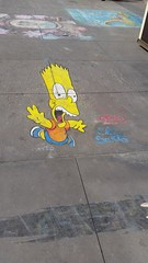 20160623_162737 (hippie_freak89) Tags: bart simpsons the art chalk sidewalk streetart el barto