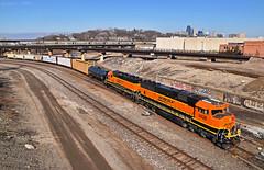 Southbound Local in Kansas City, MO (Grant G.) Tags: bnsf railway railroad locomotive bn atsf santa fe interlocking junction train trains freight south southbound engine power kansas city missouri