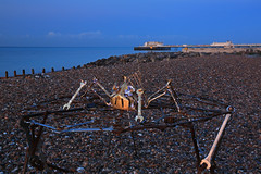 2018_09_15_0024 (EJ Bergin) Tags: sussex westsussex landscape worthing beach seaside lightfestival artonthebeach sunrise worthingpier