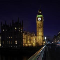 BIG BEN (AaronCarterUk) Tags: london londonist england nightscape uk nightphotography travel night skyline bridge river londonbridge reflections city sky building water people skyscraper tower clock dusk architecture road big ben