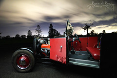 1928 Ford Model A Roadster (Ryanography.) Tags: ford model a hotrod roadster ratrod chevrolet small block chev wide angle canon sigma tamron nightlife longexposure cool car