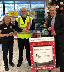 Supporting Foodbank collection in Haddington