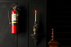 Fire Extinquisher (Studio d'Xavier) Tags: werehere fireextinguishers red flame candle three