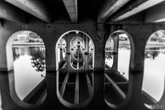 Its All Water Under The Bridge DSC_3341 (BlueberryAsh) Tags: bridge reflections benallabridge brokenriver river refelctions blackandwhite monochrome water oldbridge canal victoria nikond750 nikon24120