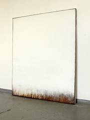 Bild_2287_white_covered_brown_130_110_4_cm_mixed_media_on_canvas_2019_studioview_05 (ART_HETART) Tags: contemporary art hetzel modern painting colorfield texture abstract minimal canvas
