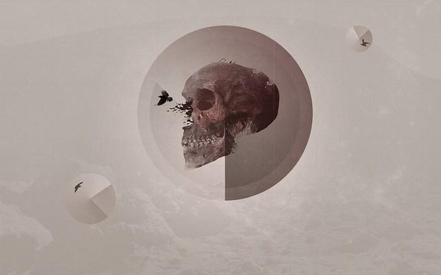 Обои череп, шар, форма, ворон картинки на рабочий стол, фото скачать бесплатно