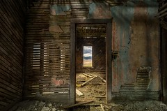 PICTURE WINDOW (garshna) Tags: window abandoned ruined ruins decayed decaying rubble lathandplaster outside inside view picture isolated empty broken