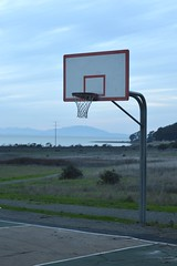 Basketball (JustinPhiIIips) Tags: nikon d3200 outdoors adventure explore walk hike west coast us california point pinole regional park golden hour basketball vertical net court public mountains