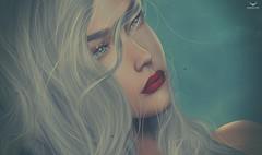Sweet Alibi~WinterBreeze... (Skip Staheli *10 YEARS SL PHOTOGRAPHER*) Tags: skipstaheli secondlife sl avatar virtualworld dreamy digitalpainting portrait closeup sweetalibi blonde breeze hair fantasy