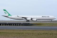 EP-MME Airbus A340-642 Mahan Air (CDG/LFPG) (geoffrey.zdcki) Tags: epmme spotting spotter cdg lfpg airbus a340 a340600 a340642 teheran tehran landing nikon iran charlesdegaulle paris