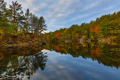 Autumn Mirrored (GunnarImages (Gunnar Haug)) Tags: autumn landscape mirror nature water nordic lake fall risør red norway leaves blue wildlife love tree forest brown sun pond green cute yellow pretty foresttrees