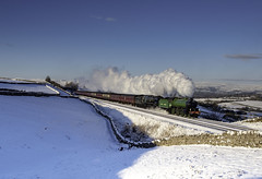 61306 35018 1Z87 Greengates 02.02.19. (Captainkez) Tags: red greengates b1 merchant navy 35018 61306 settle carlisle steam train dales snow west coast railway engine mayflower british india line