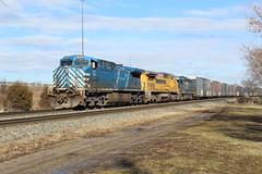 Bluebird in the Morning (matt.behrmann) Tags: csx q363 cefx 1014 ac44cw indianapolis st clair street freight gecx