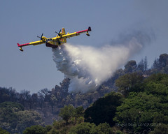 3420 - Canadair CL-415 (Sergio Dini) Tags: sergiodini lumixgx1 lumix gx1 canadair cl415 antincendio incendio anfibio aereo vikingair415superscooper canadaircl415 superscooper bombardier415superscooper