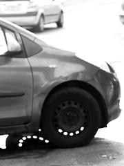 Penetrating Light B&W (zeevveez) Tags: zeevveez zeevbarkan זאבברקן canon bw car wheel