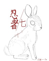 Cottontail (ninja.seven) Tags: animal cottontail sketch
