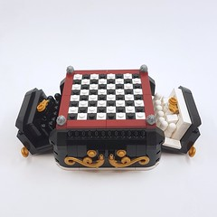 Steampunk Mini Chess - Drawers (Corvus Auriac MOCs) Tags: lego chess moc afol designer program bricklink boardgame design play king queen horse bishop tower style