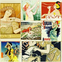 Belle Époque Vintage French Posters Collection Wall Art RETROSHEEP.COM (RetrosheepCharms) Tags: retrosheep handmade gifts deals giftideas