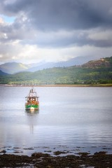 """OB598 """"Audrey"""" (http://www.paradoxdesign.nl) Tags: scotland boat vessel ship trawler loch oban travel mountains seascape fishing"""