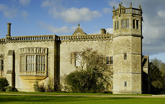 The south side of Lacock Abbey, and Sharington's tower (tonyrolls) Tags: building historic abbey lacock