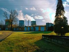 Industrial landscape (wojciechpolewski) Tags: industrial industriallandscape industry chemicalfactory factory chimneys kedzierzynkozle blechhammer poland polska wpolewski tree grass clouds bluesky photo photos nature