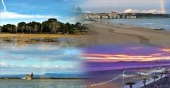 NUBES (Angelines3) Tags: martesdenubes nwn nubes collage paisaje agua playa árboles paseomarítimo cielo