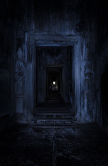 To the darkness (Cédric Nitseg) Tags: nikon asie siemreap greelow travelling backpacking backpacker travel angkorwat door cambodge indoor voyage d7000 asia temple cambodia