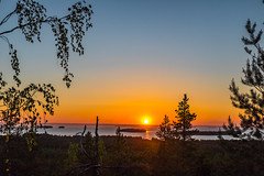 Sunset view (Arttu Uusitalo) Tags: finland summer sunset evening june southern ostrobothnia lake lakescape lappajärvi view canon eos 5d mkiv forest woods tree birch clear sky